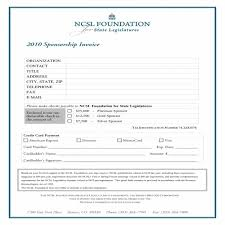 Sponsorship Invoice Template Word Task List Templates