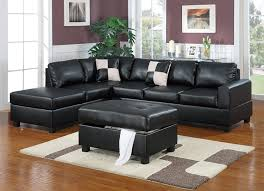 Black Leather Sectional Sofa With Recliner Black Leather Sectional Sofas Sofas