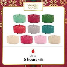 Yankee Candle Gift <b>Set</b> with 10 Scented Tea Lights and <b>1</b> Tea Light ...