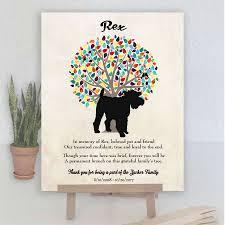 miniature schnauzer pet loss gift dog memorial poem personalized plaque sympathy gift condolence loss of pet condolence print 1076