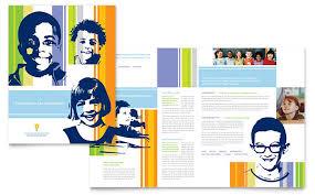 Learning Center Elementary School Brochure Template Desi On ...