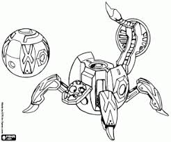 Bakugan Coloring Pages Printable Games