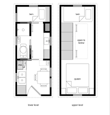 A sample from the book Tiny House Floor Plans. 8x20 Tiny House with lower  level