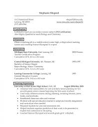 Science Teacher Resume Doc Cv Exle Language Biology Examples For Web