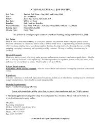 Job Post Resume For Job