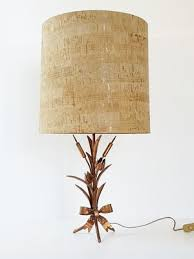 mid century french table lamp in coppered steel 1970s 1