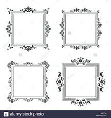 vintage frame border. Vintage Frame Border Pattern Isolated On White Vector Background Set