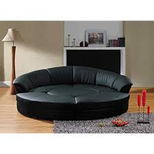 small curved couch. Exellent Couch Vig Furniture Modern Black Leather Circular Sectional Sofa Circle Inside Small Curved Couch U