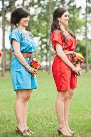 fiesta wedding dresses. colorful bridesmaid dresses | bee photographie @h a l e y v n i w shepherd fiesta wedding