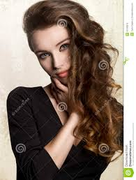 Hair Style With Volume girl with long volume hair stock photo image 55186816 3728 by stevesalt.us