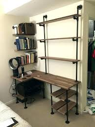 office shelving unit. Computer Desk Shelves Shelving Unit Industrial Pipe And Walnut L Shaped With Shelf Storage Office