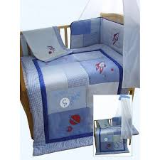 snuggle bed blue boys rocket space themed patchwork 5 piece cot cotbed bedding bale set