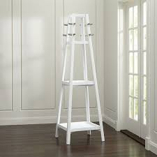 Crate And Barrel Wall Mounted Coat Rack Simple Crate Barrel Truro White Wood Standing Coat Rack €32 Liked