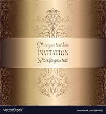 Baroque Wedding Invitations Vintage Baroque Wedding Invitation Template Vector Image