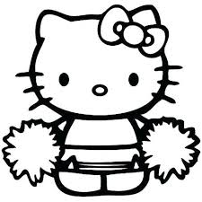 Free, printable hello kitty coloring pages, party invitations, activity sheets and paper crafts for hello kitty fans the world over! Hello Kitty Cheerleader Coloring Pages Hello Kitty Colouring Pages Hello Kitty Coloring Kitty Coloring