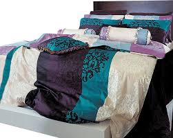 turquoise purple and black damask queen duvet cover set full duvet covers