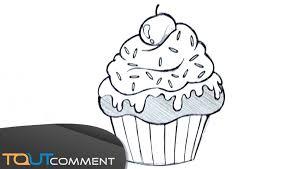 Draw A Cupcake Dessiner Un Cupcake Youtube