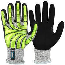 Cut Resistant Impact Hi Viz Protective Gloves Granberg