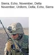 Phonetic alphabets are sets of symbols that are used to represent the individual sounds in the today, if you know the phonetic alphabet symbols, you can pronounce words in the correct way. What Does This Military Joke Mean Sierra Echo November Delta November Uniform Delta Echo Sierra Quora