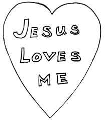 Jesus Loves Me Coloring Page Jesus Loves Me Coloring Pages