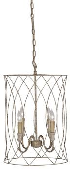 gabby mia 4 light gold cage chandelier