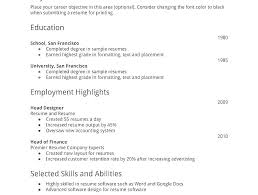 First Resume Samples Mazard Info