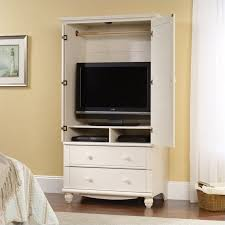 white armoire wardrobe bedroom furniture. White Armoire Cabinet Storage Wardrobe Bedroom Furniture Drawers Tv C