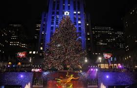 The Rockefeller Center Christmas tree stands lit during the 78th annual  lighting ceremony Nov. 30