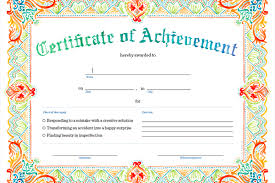 Printable Certificate Of Achievement Print Sign And Give