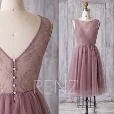 2016 short dusty rose bridesmaid dress a line wedding dress mesh