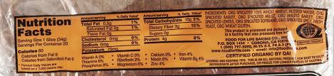 food for life ezekiel 4 9 sprouted grain low sodium bread nutrition facts