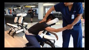chair massage. how to do a chair massage, step by tutorial working at the airport on youtube massage