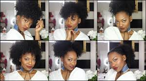 Easy Hairstyles On The Go 6 Hairstyles On Old Wash N Go Hair Quick Easy Youtube