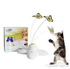 afp pet cat toy interactive electric erfly playing rotating erfly toys for kitten funny pet cat toy cat activity toys with