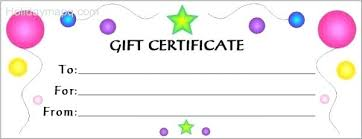 Word Gift Card Template Birthday Gift Card Template Free Templates For Word A Certificate