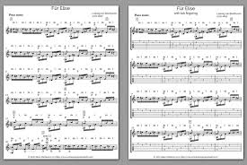 Learn to play the great classical works of all time. Fur Elise Free Guitar Tabs And Notation Pdf Sheet Music