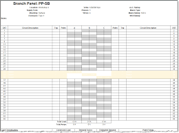 Panel Schedule Template Revit Electrical Panel Schedule Configuration Information Applying 1