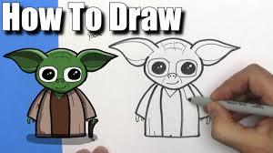 How To Draw <b>Cute Cartoon Yoda</b> -EASY CHIBI - Step By Step ...