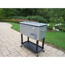 stunning patio beverage cooler 80 qt steel patio cooler cart house decor concept
