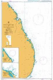 British Admiralty Nautical Chart 1583 Little Basses Reef To Pulmoddai Roads