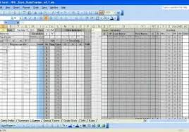 Excel Statistics Template Hockey Statistics Spreadsheet Excel Spreadsheet Collections