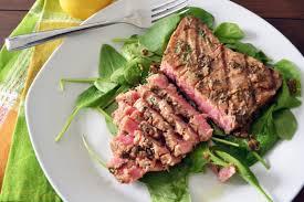 yellow fin tuna steaks span id