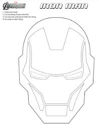Well, here you go, the flat color version of the helmet, the shaded one should be up tomorrow sometime, as with all of these, they are owned by marvel. Printable Iron Man Mask To Color Ironman3event Jinxy Kids Iron Man Mask Iron Man Birthday Iron Man