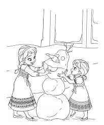 Small Picture Anna Elsa Disney Princess Sisters Frozen Coloring Page Coloring