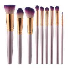 9pcs luckyfine soft makeup brushes set blend foundation lips liner eye shadow powder cosmetics tool cod