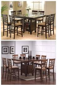 sleek counter height dining table and chair set will be the perfect addition to your cal