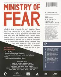 an essay on fear ministry of fear blu ray personal essay on  ministry of fear blu ray