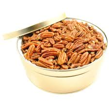 roasted unsalted pecans gift tin
