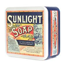 sunlight soap square storage tin retro vintage metal kitchen canister opie gift