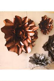 rustic metal flower wall art